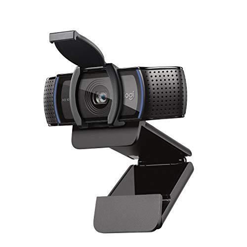 Logitech C920sHDProWebcam (Videogespräche und Videoaufnahmen in FullHD mit 1080p mit zwei Stereo-Mikrofonen, Abdeckblende, neue Capture Videoaufnahme-Software, kompatibel mit MacOS, PC und Xbox)