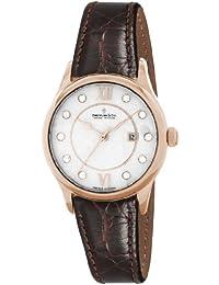 Dreyfuss & Co DLS00042/41 - Reloj para mujeres, correa de acero inoxidable color marrón