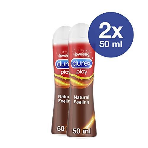 Gleitgel auf Silikonbasis für ein natürliches Gefühl Durex Natural Feeling 2x 50ml mit praktischer Dosierflasche
