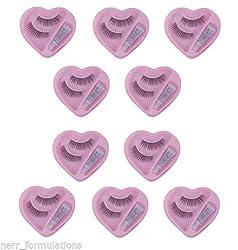 Eyelashes with glue 10 pairs (Nerr Brand)
