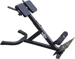 MAXXUS Hyperextension Rückentrainer für ein gesundes Rückentraining. Massive Ausführung. NEU: Bis Schuhgröße 47 verwendbar. Rückenstrecker, Torso Trainer