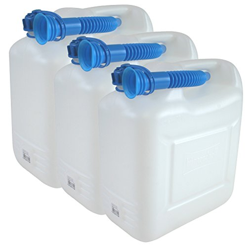 3x Wasserkanister ECO 10 Liter mit Rohr 3er Set Kanister Camping Wassertank NEU