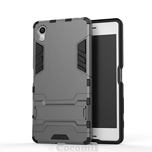 Sony Xperia X Performance Funda, Cocomii Iron Man Armor NEW [Heavy Duty] Premium Tactical Grip Kickstand Shockproof Hard Bumper Shell [Military Defender] Full Body Dual Layer Rugged Cover Case Carcasa F8131 F8132 (I.Gray)