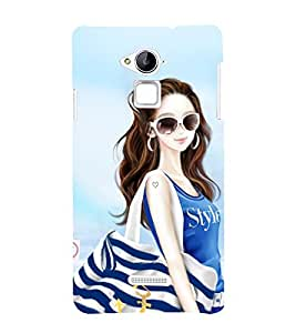 Vizagbeats Stylish Girl Back Case Cover for Coolpad Note 3