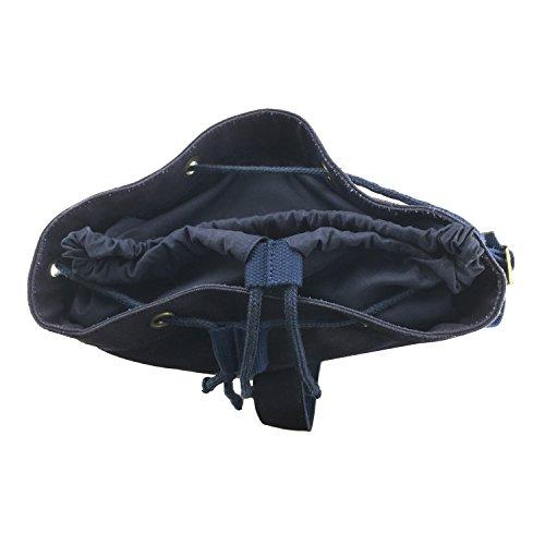 tourbon Leinwand Bike Panniers Rucksack Fahrrad Rahmen Tasche marineblau