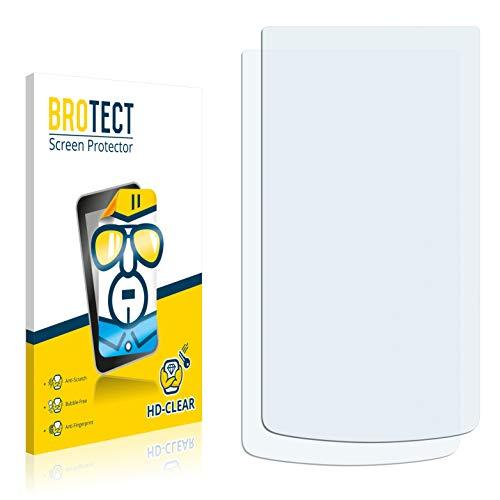 BROTECT Schutzfolie kompatibel mit Oppo N1 Mini (2 Stück) klare Bildschirmschutz-Folie