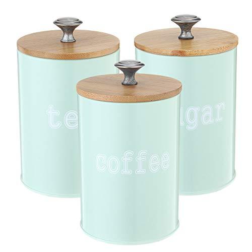 RanDal 3Pcs Tea Zucker Kaffee Kanister Lagerung Jars Küche Spice Container Empty Jar -