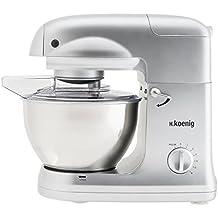 H.Koenig KM 68 Robot de cocina multifunción, 1000 W, 5 l Acero