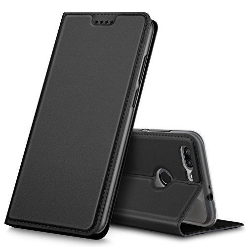 ZTE Blade V9 Vita Hülle, GeeMai Premium Flip Case Tasche Cover Hüllen mit Magnetverschluss [Standfunktion] Schutzhülle Handyhülle für ZTE Blade V9 Vita Smartphone, Schwarz