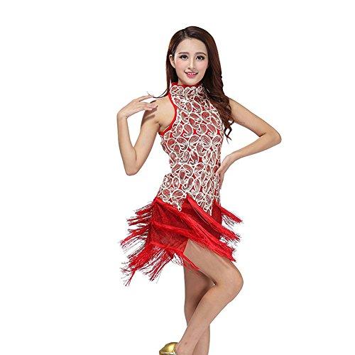 Moresave usura donne latino della salsa della nappa paillettes abito da ballo Dance Competition