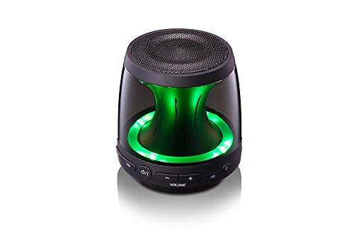 Eclairage LED Blanc // Rouge // Vert Noir Kit main libre Autonomie 5H Puissance 2W LG PH1.AEUSLLK Enceinte Portable Bluetooth LED Temps de charge 3H Son 360/° Radiateur Passif