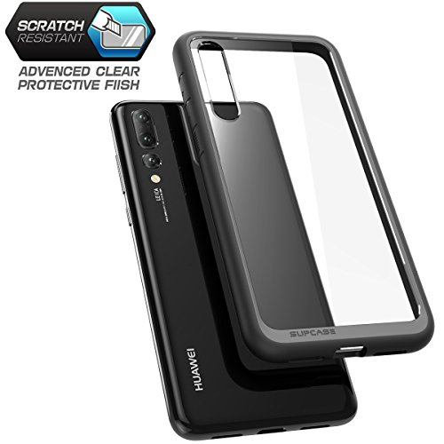 SUPCASE Unicorn Beetle Style Series Hybrid Protective Clear Cover for Huawei P20 Pro (Black)