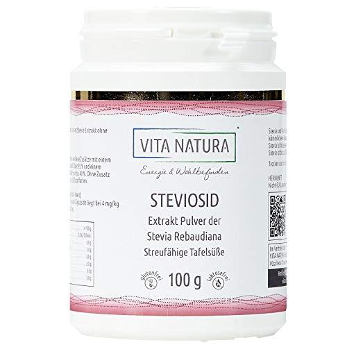 Vita Natura Polvo de Stevia, Esteviósido al 95%, Pack de 1 ( 1 x 100 g)