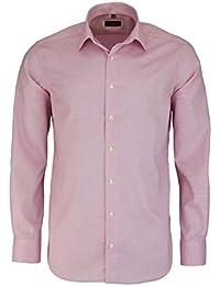 eterna Modern Fit Hemd Extra Kurzer Arm Muster Rosa AL 59