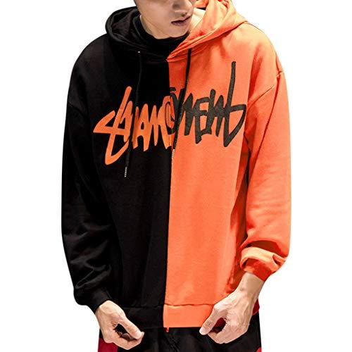 Aoogo Herren Pullover Hoodie Fashion-Streetwear Freizeitkleidung Mode Print Jacke Casual Slim Fit Langarm Stehkragen -