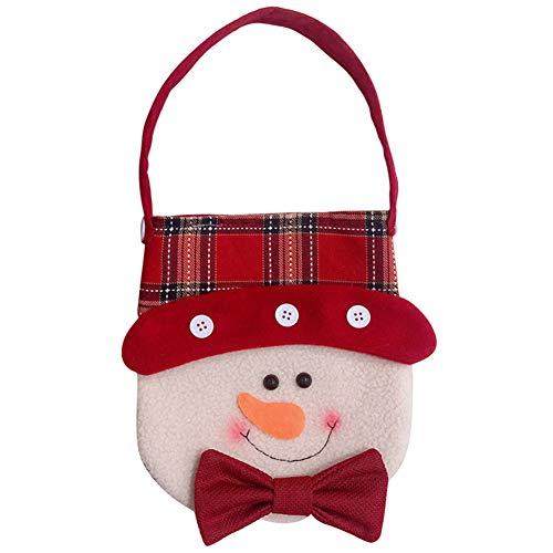Kentop Christmas Eve Tasche für Apple Geschenktüten Dekoration für Urlaub Props Supplies 22cm*18cm Design: 1