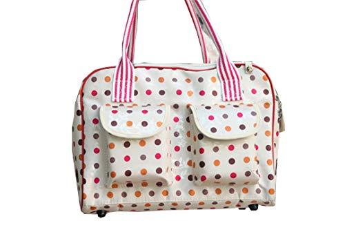 Bag-Haigeen Haustier Haustier Hund Tragetasche Robuste Oxford Outdoor Tragetasche Handtasche Tragbare Träger White L (Hundetragetasche Designer Handtasche)