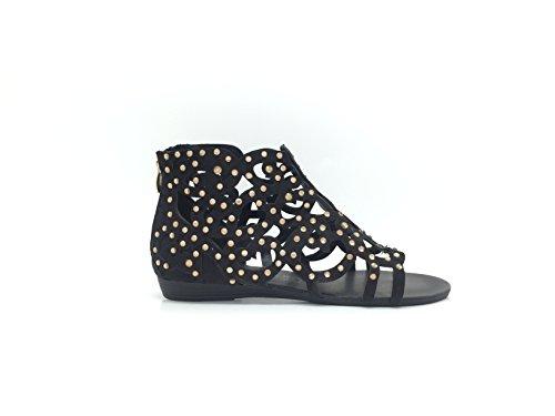 CHIC NANA . Chaussure Femme Mode Sandale, Strass diamant fantaisie. Noir