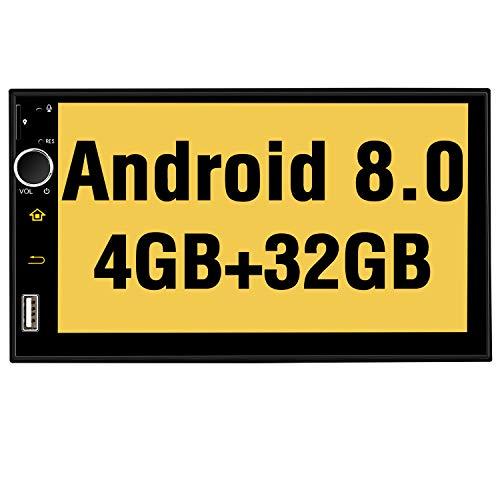 Pumpkin Android 8.0 Autoradio Radio mit Navi Unterstützt Bluetooth DAB + Android Auto USB MicroSD WLAN 4G 2 Din 7 Zoll Bildschirm Universal