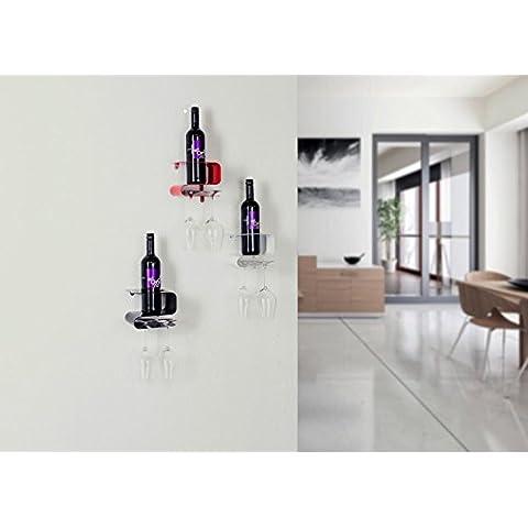 Portabottiglie Vino Porta bottiglie di vino Pensile per vino Supporto