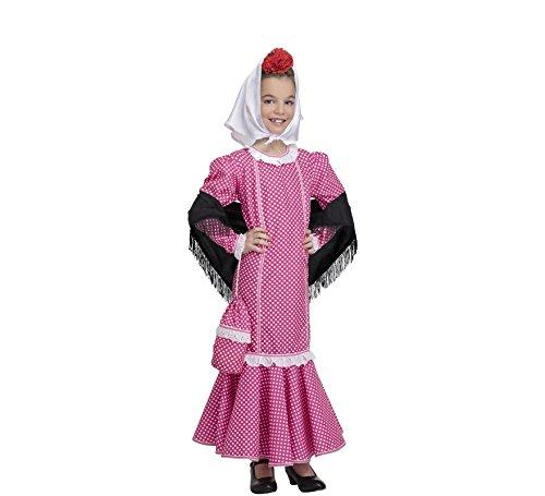 Disfraz de Madrileña Chulapa Rosa (3-4 años)