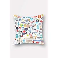Bonamaison Throw Pillow Cover, Multi-Colour, 45 X 45cm, Bnmyst2351