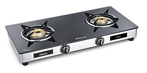 Sunflame GT Regal Stainless Steel 2 Burner Gas Stove, Black