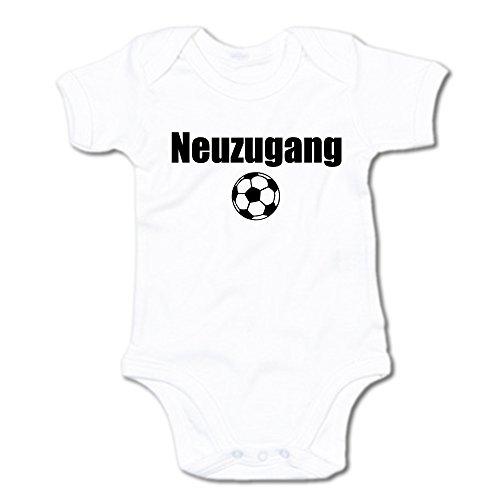 G-graphics Neuzugang Baby Body Suit Strampler 250.0128 (3-6 Monate, weiß) - Fußball Body