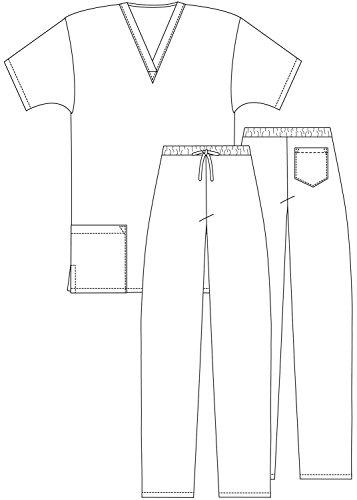 Adar Universal Medical Scrubs Set Medical Uniforms - Unisex Fit - 701 - RYL -2X - 3