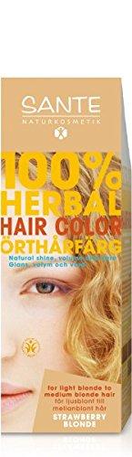 Henna-farbstoff (SANTE - Pflanzen-Haarfarbe - Rotblond - Ohne Peroxide & Ammoniak - Ohne synthetische Farbstoffe - Vegan)