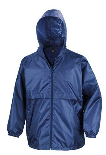 Result New Core Veste Coupe-Vent Homme pour Adulte Léger Fermeture Éclair Veste - Bleu - Medium