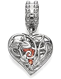 Clogau Beads Womens Silver 9ct Rose Gold Secret Garden Fairy Dropper Bead Charm yFGtRIkdc