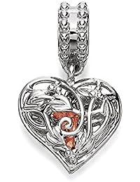 Clogau Beads Womens Silver 9ct Rose Gold Secret Garden Fairy Dropper Bead Charm