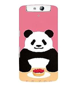 EPICCASE Panda food Mobile Back Case Cover For OPPO N1 (Designer Case)