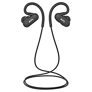 AYL Bluetooth V4.1 Earphones With Over - Ear Hook - Lightweight Mini In - Ear Headphones Sweatproof Noise Cancelling Wireless Earbuds With Rechargeable Battery - With 6 Hour Playtime For Gym & Run