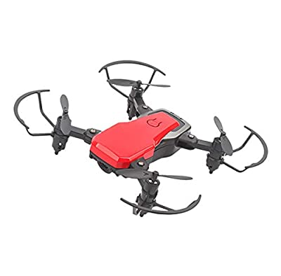 LKDKJ RC Drone And Camera WIFI FPV Four-Axis Aircraft And 720P HD Camera Foldable 2.4Ghz 6-Axis Gyroscope Air Pressure Fixed Speed Adjustment,Red