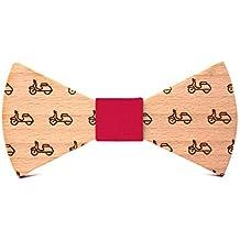 Territorial Noeud papillon bois Vespa. Collection de mode homme  Mariage et  cérémonie. Conception 4fb1ce51818