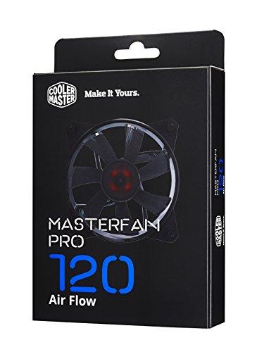 Cooler master masterfan pro 120 af ventola per case 'fino a 1900 rpm, silenziosa, modalità performance, 120mm' mfy-f2nn-11nmk-r1