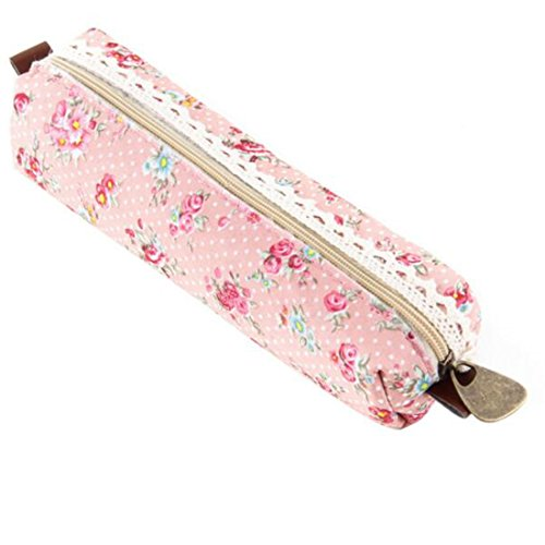 �r Stifte mit Blumenmuster und Spitzenverzierung, Retro-Look, blau rose (Kleine Mädchen Store)