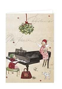 10 weihnachtskarten von silke leffler im set mit umschl gen b robedarf schreibwaren - Weihnachtskarten amazon ...