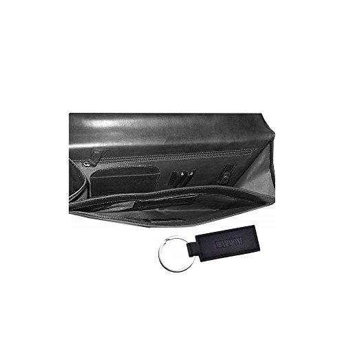 Venta Barata Imágenes Charmoni-Valigetta 1 soffietto-Cartella in pelle di vacchetta nuovo Magellan Nero (nero) 2018 Unisex El Envío Libre 2018 ROuO7L