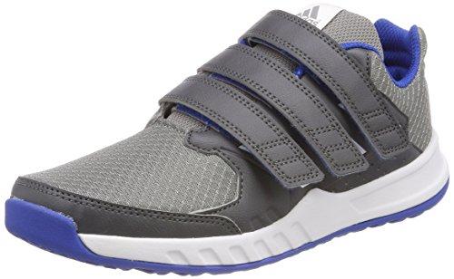 adidas Unisex-Kinder FortaGym Gymnastikschuhe, Mehrfarbig (Grey Five F17/Ftwr White/Grey Three F17), 34 EU (Boys Running Trainer)