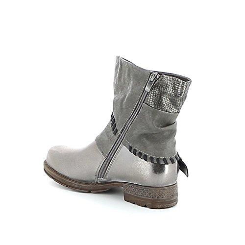 Mi-boots torsadée Argent