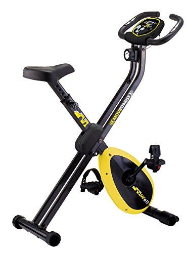 Movi Fitness Cyclette magnetica MF611 X-Compact, Nero/Giallo