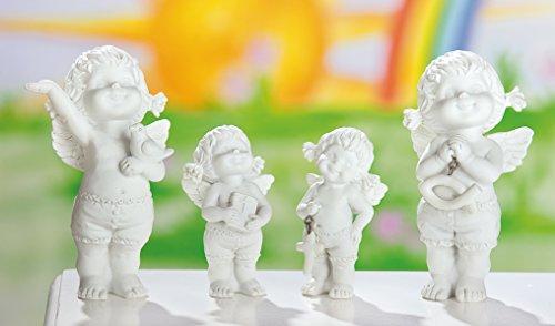 1 Engel Figur Lucy mit christlichen Symbolen sortiert 1von4 Modellen 8cm