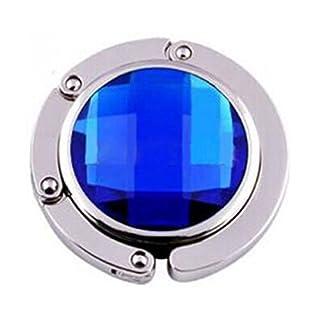 achievess (TM) Metalllegierung Kristall Fashion Faltbare Handtasche Haken Aufhänger Tasche Halter marineblau