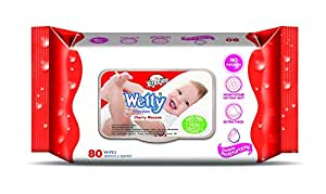 Wetty Wipes Cherry Blossom, 80 Sheets
