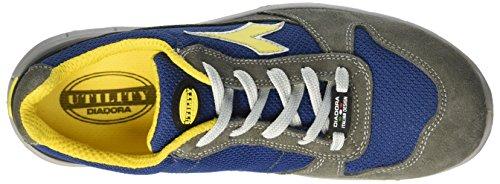 Diadora Unisex-Erwachsene Run Textile Low S1p Arbeitsschuhe Grau (Grigio Castello/blu Insegna)