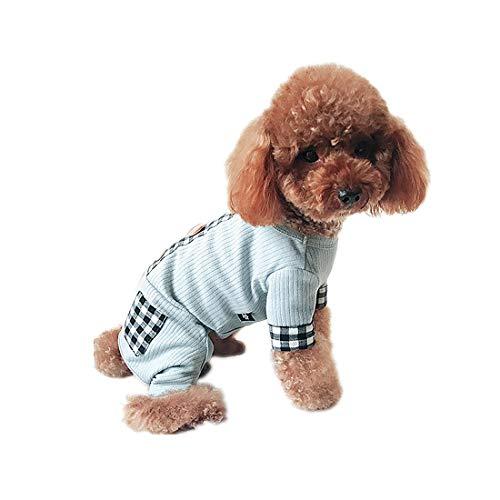 PZSSXDZW Neu Hundebekleidung Frühling und Sommer Pet Kleidung Welpenkleider Teddy-Kleidung Hundefrühlingssommerkleidung Vierbeinige Kleidung Blue XX-Large