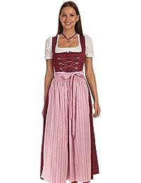 Turi Landhaus Dirndl lang Kleid Tracht Damen lang tradionelles Dirndl Baumwolle